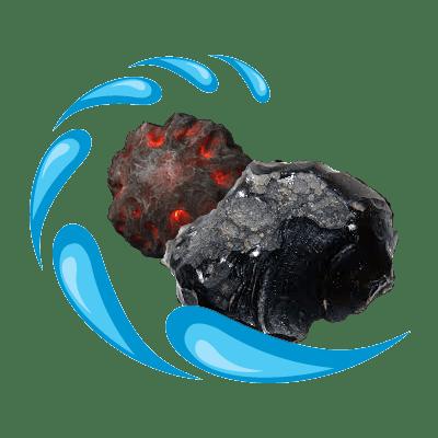 آب معدنی کرست تصفیه شده با عبور از سنگ های آتشفشانی