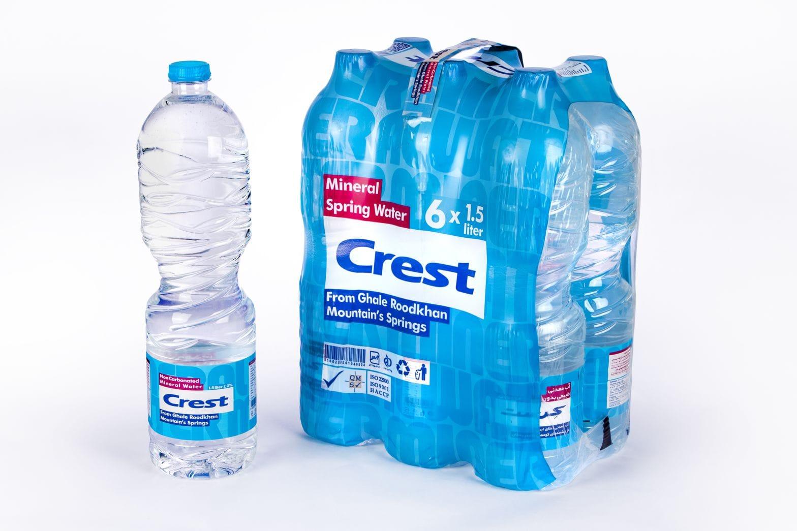 بسته بزرگ آب معدنی طبیعی کرست